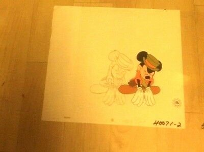 Disney, Mickey Mouse, Production Cel  Matching  Pencil Drawing