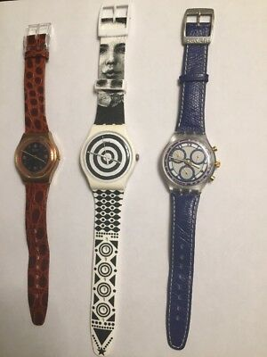 Vintage Swatch Watcg Lot Of 3 Swatch Watches *rare* (All Working)