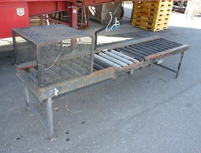 Powered chain driven roller conveyor 2970mm adjustable height solid construction