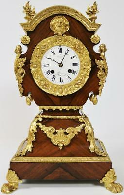 Antique French Kingswood Bell Striking 8 Day Ormolu Mantel Clock By Japy freres