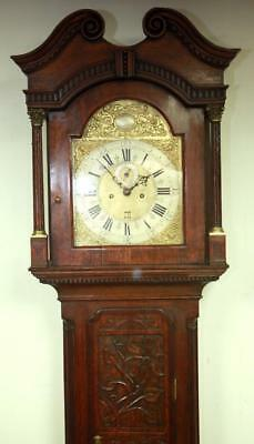 Antique London Longcase Clock Brass Dial 8Day Carved Grandfather Clock C1773 Wow