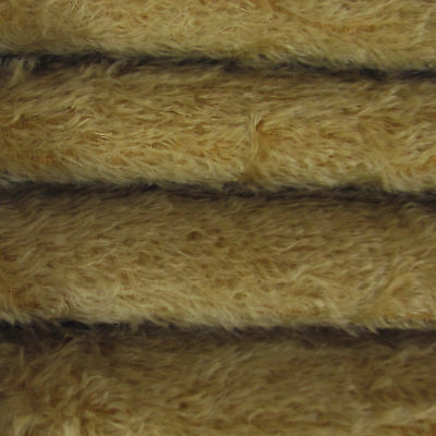 """1/6 yd 300S/C Buckwheat INTERCAL 1/2"""" Ultra-Sparse Curly S-Finish Mohair Fabric"""