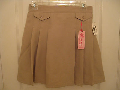 Girls' Uniform Skorts Khaki Size 16  ''copper Key''  Easy Care New With Tags