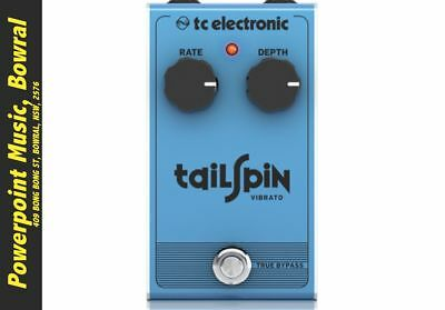 TC Electronic Tailspin Analog Vibrato Pedal + Free Shipping RRP $109