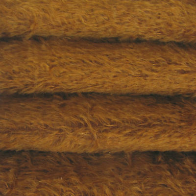 """1/3 yd 300S/C Bronze INTERCAL 1/2"""" Ultra-Sparse Curly S-Finish Mohair Fur Fabric"""