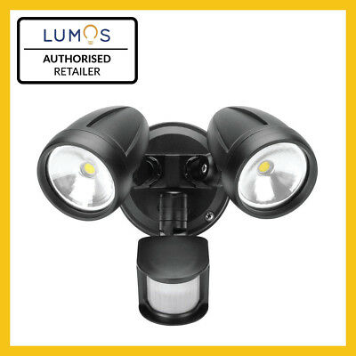 NEW LUMOS 26W LED Twin Head Security Outdoor Spot Flood Light with Motion Sensor