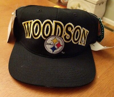 New Vintage Football Snapback Starter PITTSBURGH STEELERS ROD WOODSON Hat  Cap 16350a892