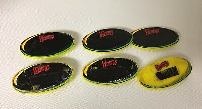 Wendy's Name Tag Fast Food Restaurant Lot 6 Pinback Employee Uniform Where Beef