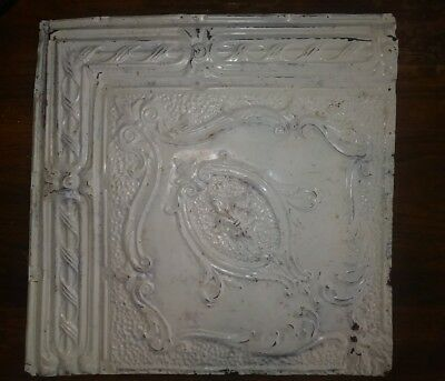 One 24in x 24in Antique cast iron ceiling tile. Vintage tin tile.
