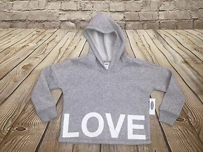 NWT Old Navy Girls Gray Graphic Love Hoodie Size XS (5)