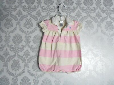 Girls Toddlers Ralph Lauren One Piece Pink Cream Stripes size 6 months NICE