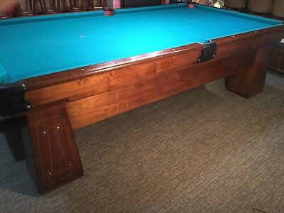 Antique Pool Table Brunswick Balke Collender Co. Monarch Cushion New Felt /pocket