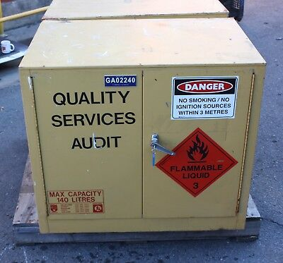 PRATT SAFETY CABINET 140L Hazardous Dangerous Flammable Liquids Storage 5535 S
