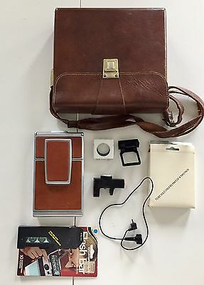 POLAROID SX-70 LAND CAMERA - Package with Bag,Flash Bar, Remote, And More