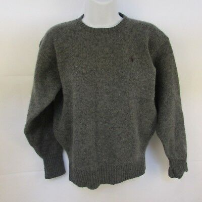 Ralph Lauren Polo Youth Boys Sweater Sz L 100% Lambswool Crew Neck Pullover