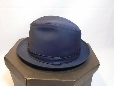 LONDON FOG MENS XL navy fedora -  15.00  b39c31dff3d