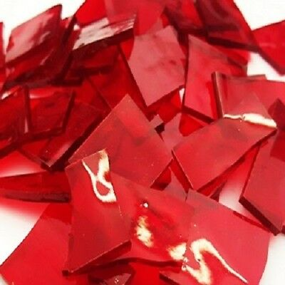 Stained Glass Pieces - 200grams - Scarlett Red Transparent