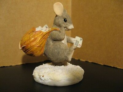 Charming Tails By Dean Griff  Silvestri Mail Mouse Figurine 87573~ Cute Rare