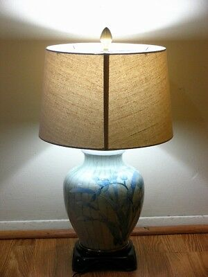 Vintage Porcelain Wildwood Table Lamp Porcelain Tree Branches U0026 Leaves