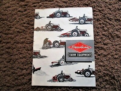 1948 Dearborn Farm Equpiment Brochure. 23 Pages. Ford Tractor. Saw Rake Mower ++