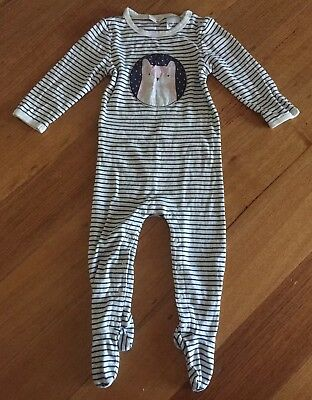 Country Road Unisex footed Romper Bodysuit pyjama size 0 winter baby boys girls