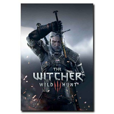 The Witcher Geralt 24x36inch Video Game Silk Poster Wall Decoration Hot