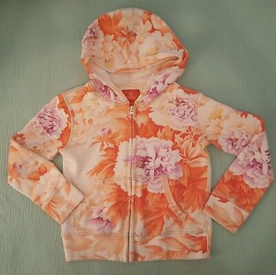 Lucky Brand Asian Floral Hoodie Sweatshirt Size 4