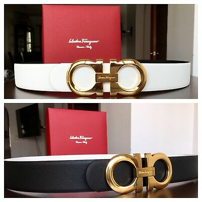 New Authentic Reversible Ferragamo Belt 95 cm fits 32-34 waist
