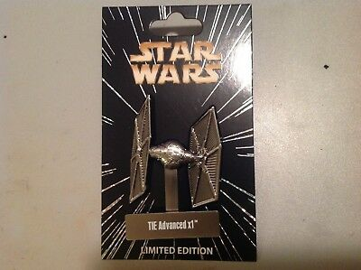 Disney Star Wars Series Limited Edition TIE Advanced X1 Pin w/ Stand New Release