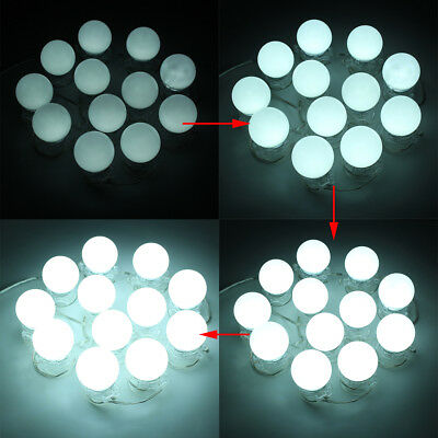12x Hollywood Led Bulbs Vanity Makeup Dressing Dimmable Mirror Lights White Ip68