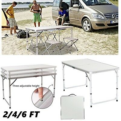 6FT Folding Up Table Plastic Camping Picnic Heavy Duty Garden Dining Display NEW