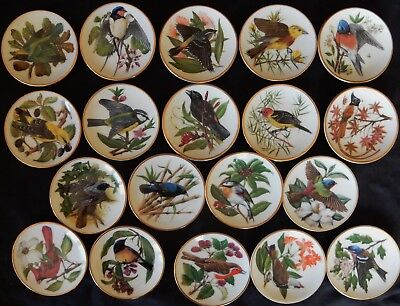 "B'/ Lot x19 Coupelles FRANKLIN PORCELAIN ""SONGBIRDS OF THE WORLD"" (perfect)"