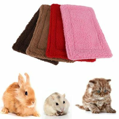 US Guinea Pig Bed Animal Cat Cage Mat Hamster Rabbit Hedgehog Sleeping House Pad