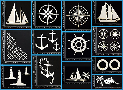 White Chipboard - Beach & Nautical - Collection Two