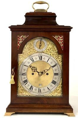 London English Twin Fusee Mahogany 8 Day Bell Top Striking Bracket Clock 1810