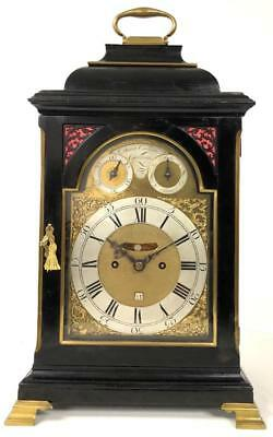 English Verge Twin Fusee Bell Top 8 Day Striking Bracket Clock - David Caillatte