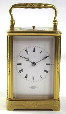 Antique French Drocourt Carriage Clock Gong Striking Repeat Mantel Clock - Grohe