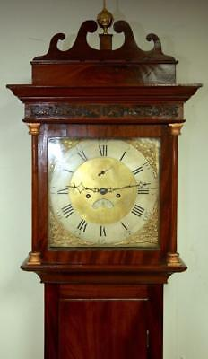 Antique English Longcase Clock Brass Dial 8 Day Somerset Grandfather Clock C1775