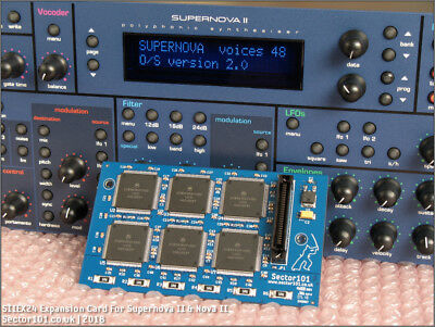 NOVATION SUPERNOVA II & NOVA II - SIIEX24 24 Voice Expansion Card - Pro-X XL