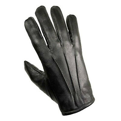 Men's Real Leather Driving Gloves Black Unlined Fashion