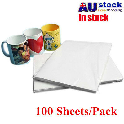 100x A4 Transfer Stencil Paper Thermal For DIY Cloth Mug Mouse Pad Phone Case