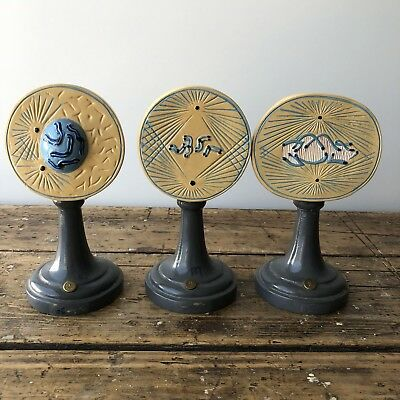 French Antique Wood Painted Scientific Cell Mitosis  Models