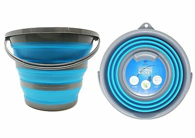 Collapsible Folding Portable Silicon Bucket Kitchen Camping Outdoor Fishing