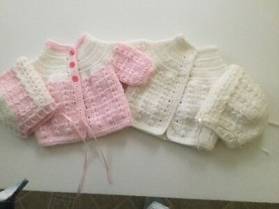 Newborn sweater sets (2) or baby dolls