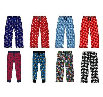 Boys and Mens Official Lounge Pants Football Teams and TV Film Characters