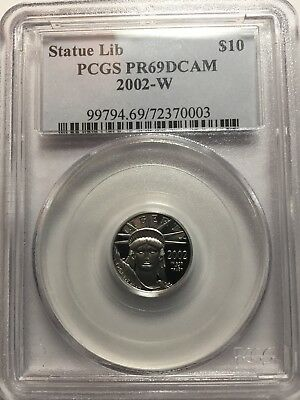 2002-W $10 American Platinum Eagle 1/10 oz Proof PR69 DCAM