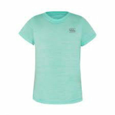 Canterbury CCC Girls Vapodri training Tee aruba blue marl age 10 E747442 Z51