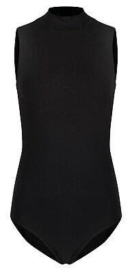 Polo Neck with Zip Back | Dance Uniform Leotard | Cotton | Ladies Sizes (DL004)