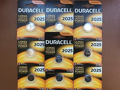 10 x Duracell CR2025 3V Lithium Coin Cell Battery 2025 DL/BR2025 Longest Expiry