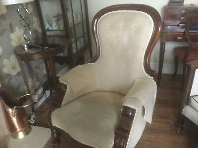 victorian spoon back chair.